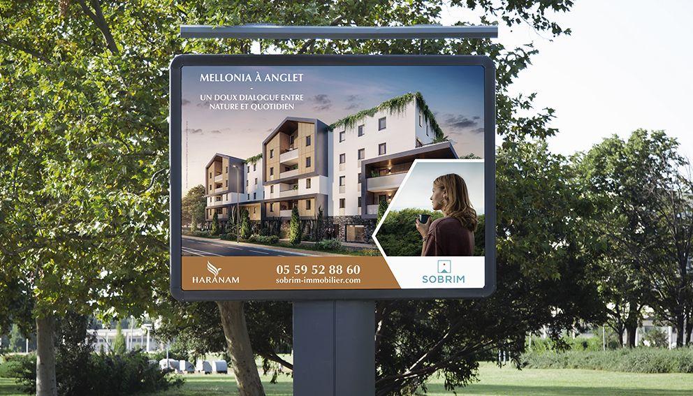 Affiche Sobrim Immobilier résidence Haranam